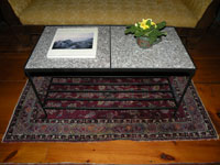 Granite and Black Iron Coffee Table